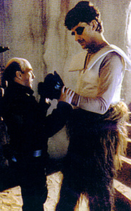 Chewbacca puts his dukes up for Peter Diamond (on the set of Return of the Jedi (Lucasfilm Ltd / Disney)