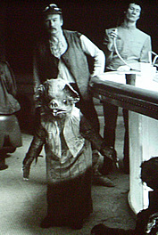 "A fabulous behind-the-scdenes photo, featuring Peter Diamond on the cantina set (Star Wars: A New Hope"" copyright Lucasfilm Ltd/Disney)"