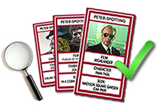 Peter-Spotting cards - Collect them all!