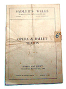 """Romeo and Juliet"" at Sadler's Wells  / March 1953"