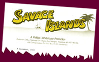 """Savage Islands"" production letterhead"